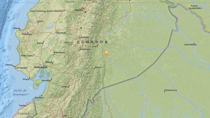 Un sismo de magnitud 5,6 sacude la región amazónica de Ecuador