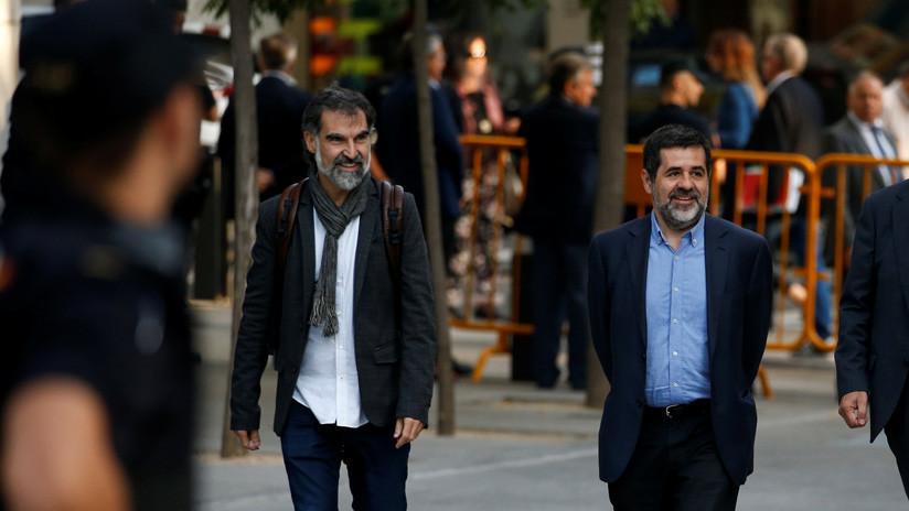 Los líderes independentistas catalanes en prisión preventiva llevan su causa a la ONU