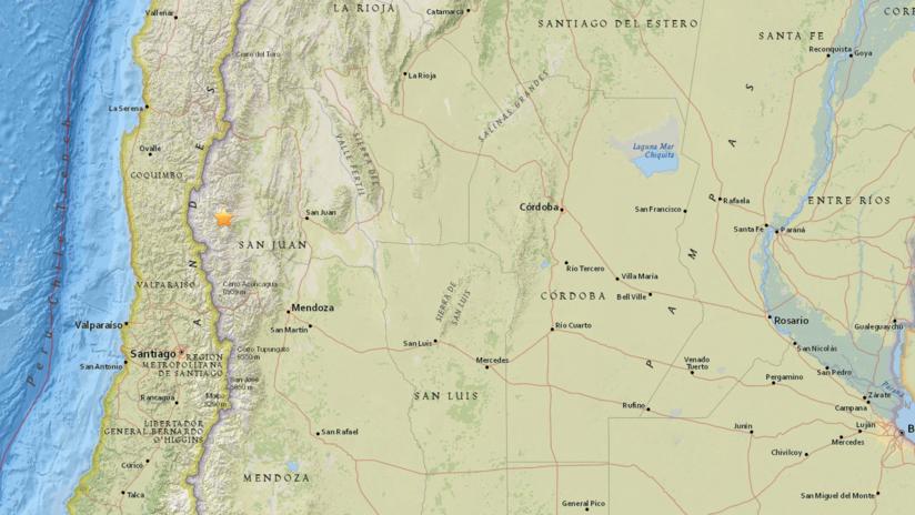 Sismo de magnitud 5,2 en Argentina