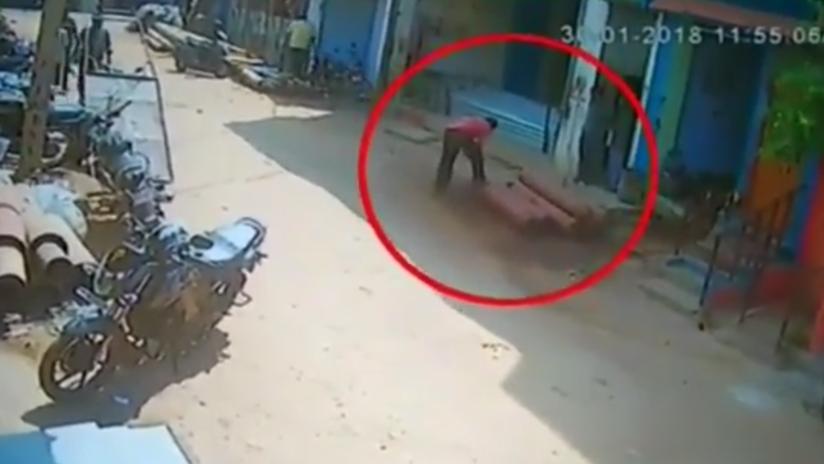 VIDEO: Intenta abrir una bombona de gas caduca pero sale disparada como un misil