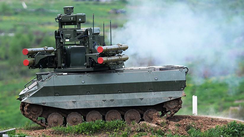 Guerra de máquinas: Así ataca el robot de combate ruso Urán 9 (VIDEO)