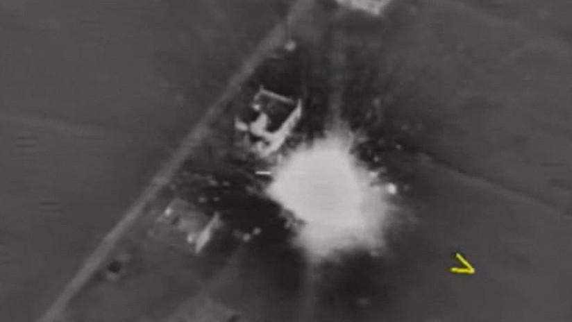 Publican el video del ataque ruso contra los terroristas que derribaron un Su-25 en Siria