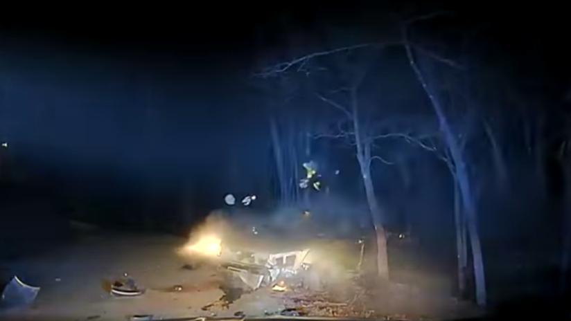 FUERTE VIDEO: Huye de la Policía y es abatido tras intentar apuñalar a un agente