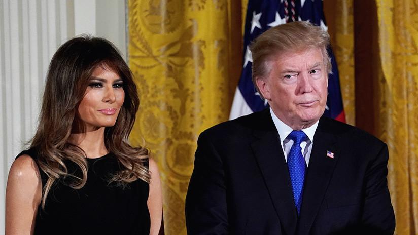 VIDEO: Melania Trump se niega a tomarse una foto conjunta con su marido