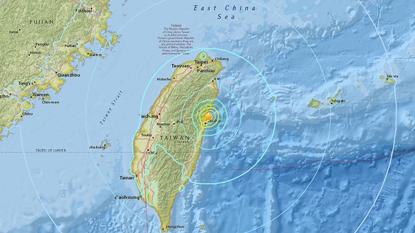 Un sismo de 6,1 se produce en Taiwán