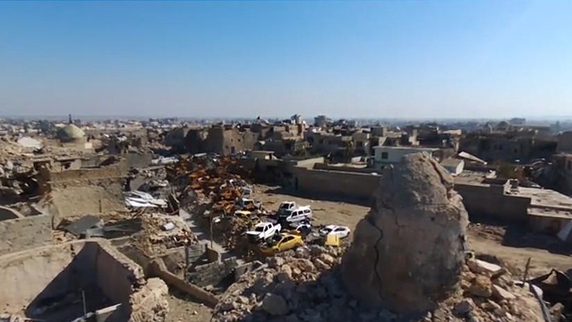 ¿Dónde está la coalición? Devastadoras imágenes desde la ciudad de Mosul