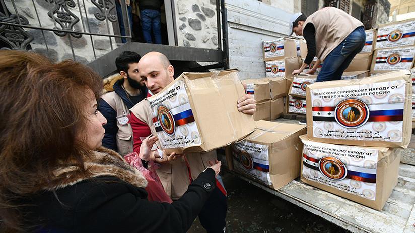 Dos muertos en un ataque con morteros contra puntos de ayuda humanitaria rusa en Damasco