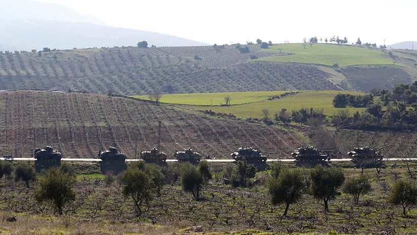 Video: Convoy militar turco entra en la provincia de Alepo y se acerca a las tropas sirias