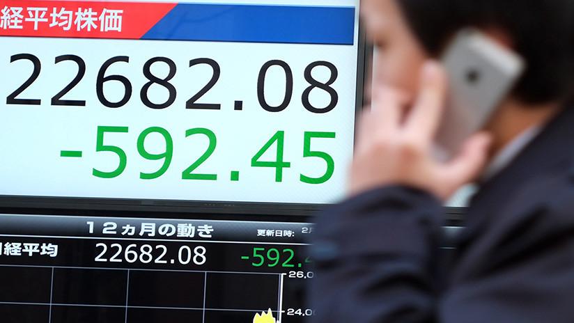 ¿Efecto Wall Street? Bolsa de Tokio se desploma en la apertura