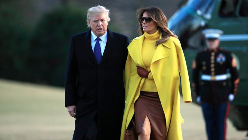 """El """"video más incómodo"""" de Trump y su esposa llena las redes de bromas"""