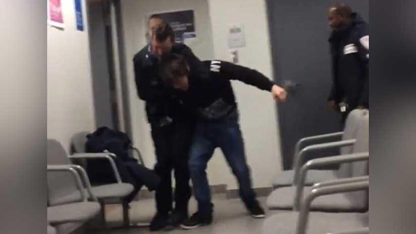 FUERTES IMÁGENES: Un guardia judicial dispara en la cabeza a un adolescente frente a su madre
