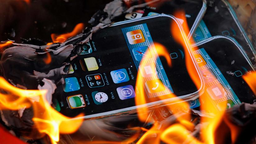 Un iPhone 6 Plus explota en un salón de belleza (VIDEO)
