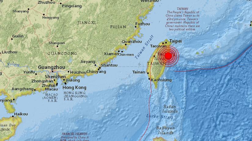 Sismo de magnitud 6,4 en Taiwán deja al menos dos muertos y más de 180 heridos