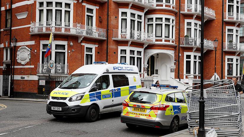 La Policía británica investiga un 'paquete sospechoso' cerca de la embajada de Ecuador en Londres