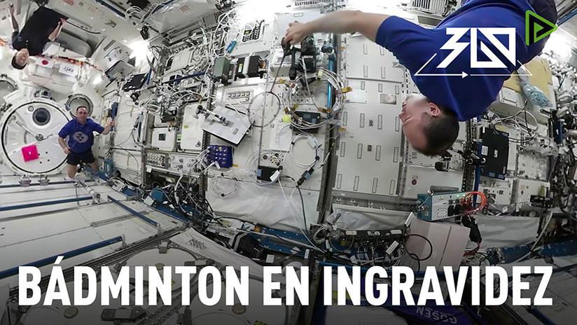 Space 360º: Tripulación de la Estación Espacial Internacional juega al bádminton en la ingravidez