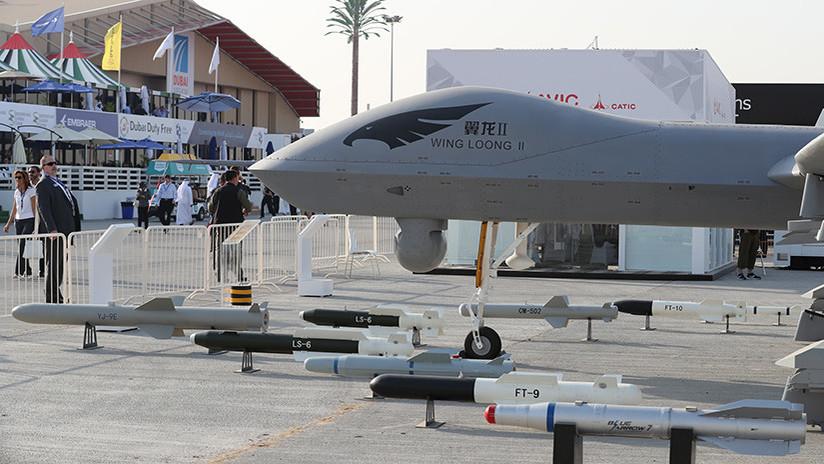 El sigiloso dron militar chino Star Shadow deslumbra en el salón aeronáutico de Singapur