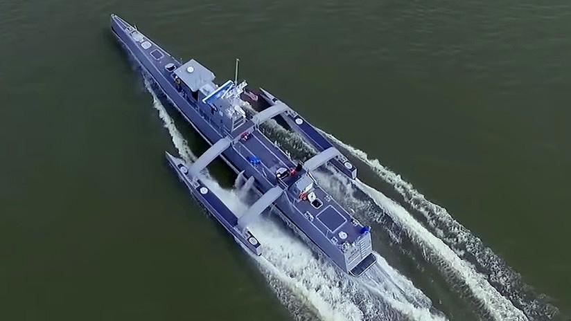 La Marina de EE.UU. ya tiene el barco no tripulado más grande del mundo (VIDEO)
