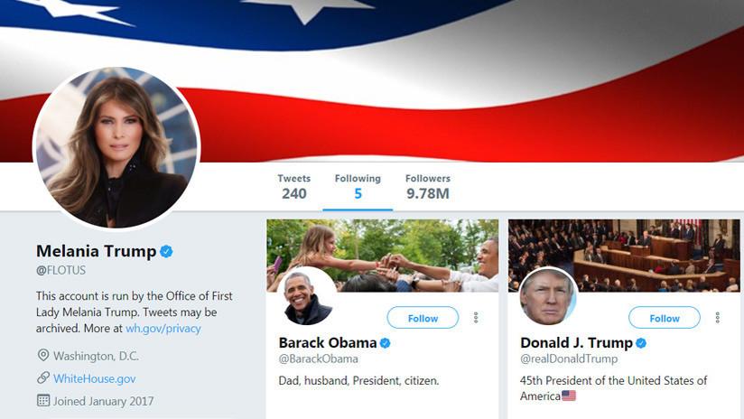 ¿Trolea a su esposo?: Melania Trump sigue a Barack Obama en Twitter