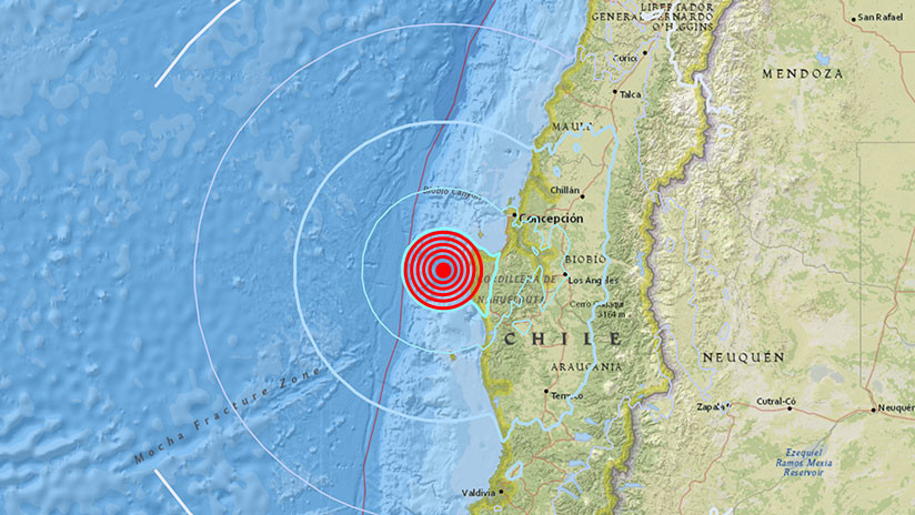 Un terremoto de magnitud 5,6 se registra en la costa de Chile