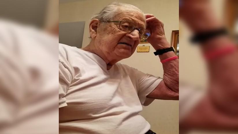 VIDEO: La reacción de un anciano al descubrir que tiene 98 años conquista la Red (lenguaje grosero)