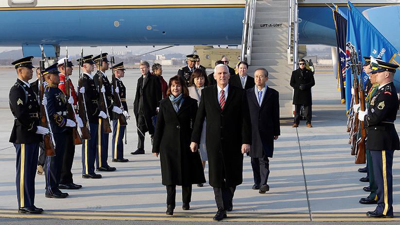 Mike Pence se marcha de la cena de los Juegos Olímpicos con líderes de las dos Coreas
