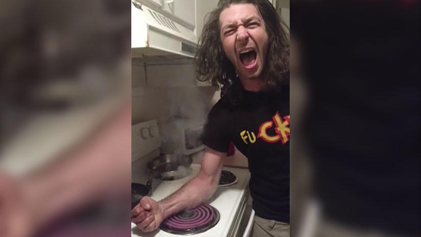Tan peligroso como suena: Nuevo 'reto de la hornilla caliente' causa preocupación en la Red (VIDEO)