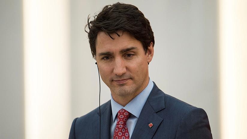 Un vehículo de la caravana del primer ministro de Canadá, implicado en un accidente con tres heridos