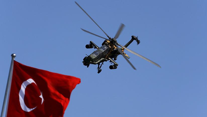 Fuerzas kurdas derriban un helicóptero turco cerca de la ciudad siria de Afrín