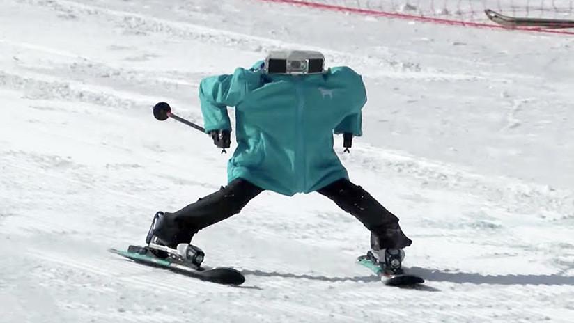 VIDEO: Robots esquiadores sorprenden con su destreza y habilidad en los JJ.OO. de Pyeongchang