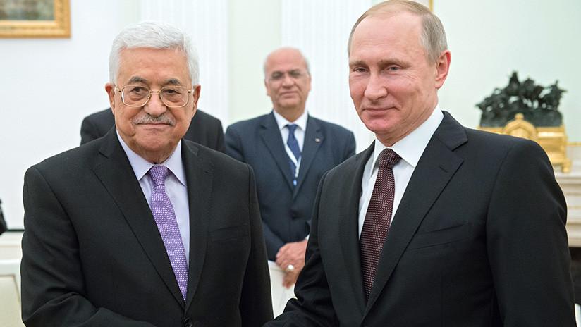 De qué hablarán el presidente palestino Mahmud Abbás y Vladímir Putin en Moscú