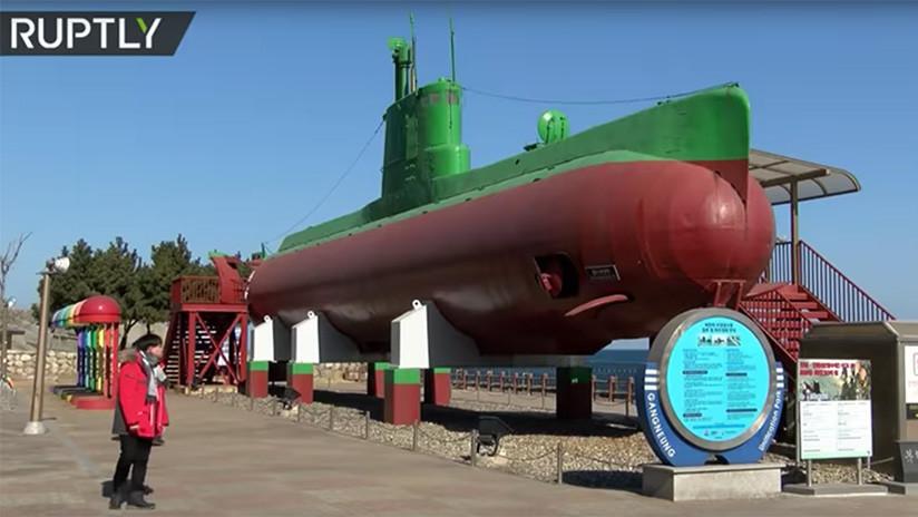 VIDEO: Un submarino espía norcoreano atrae a los visitantes de Pyeongchang 2018