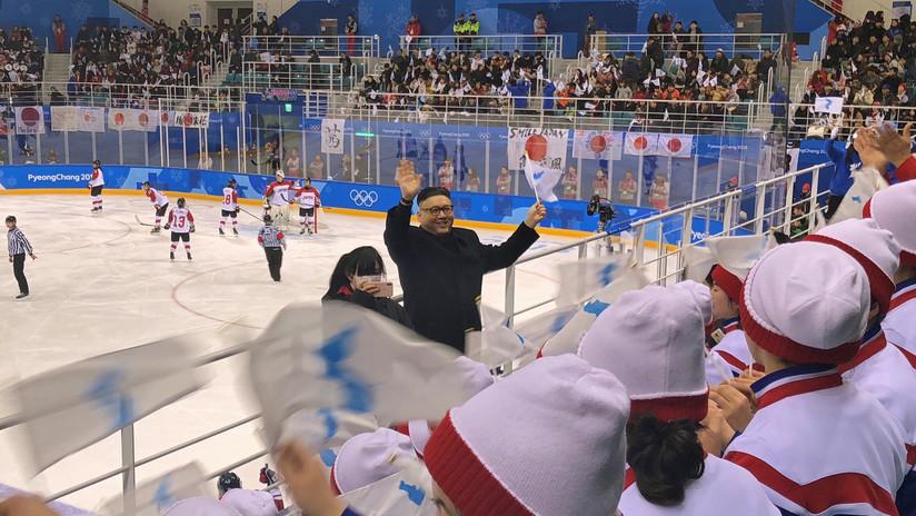 VIDEO: Expulsan al 'doble' de Kim Jong-un de un partido de hockey femenino en los JJ.OO.