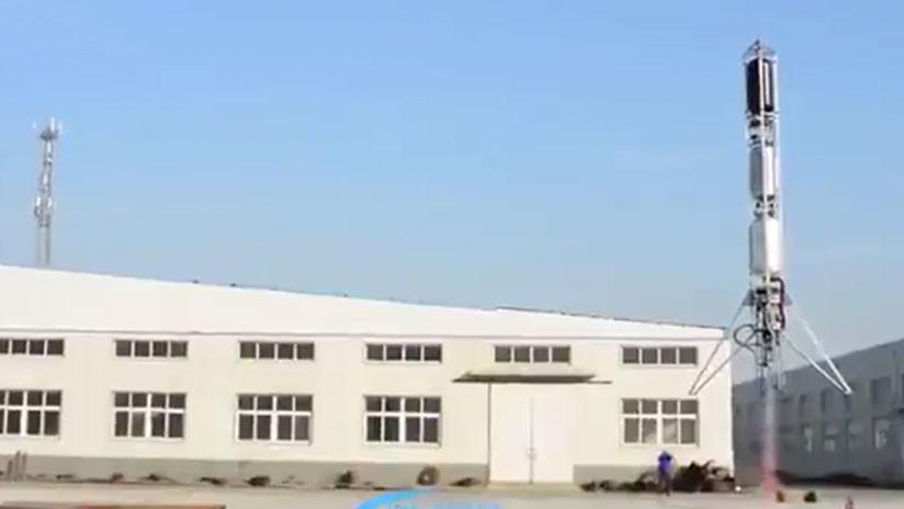 VIDEO: El SpaceX chino culmina con éxito la primera prueba de un cohete reutilizable