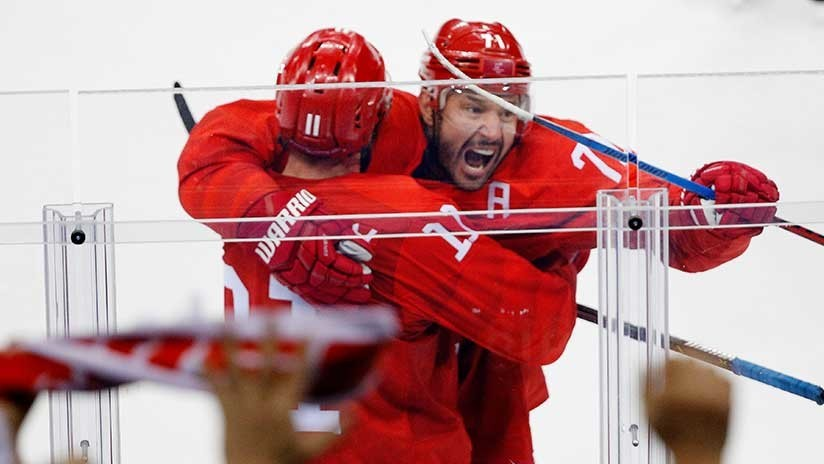 Equipo ruso de hockey vence a EE.UU. en los JJ.OO de Invierno de Pyeongchang
