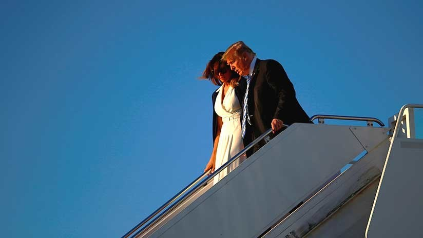 VIDEO: Trump protagoniza un nuevo momento incómodo al negarse Melania a darle la mano
