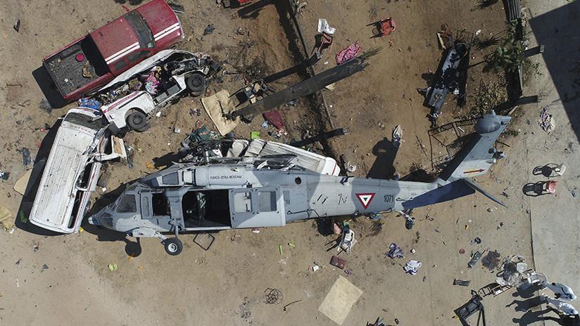 Así fue la caída del helicóptero donde viajaba el secretario de Gobernación de México (VIDEO)
