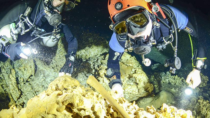 VIDEO: Hallan patrimonio milenario en cuevas submarinas de México