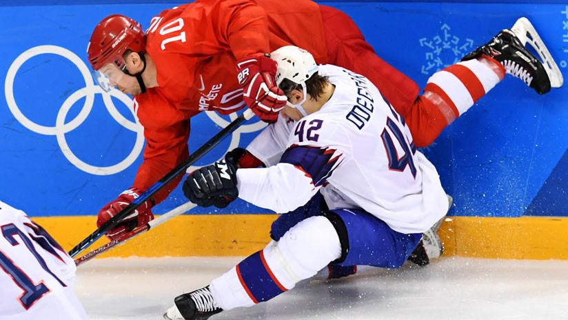 El equipo ruso de hockey vence a Noruega por 6-1 y avanza a semifinales de los JJ.OO. de Invierno
