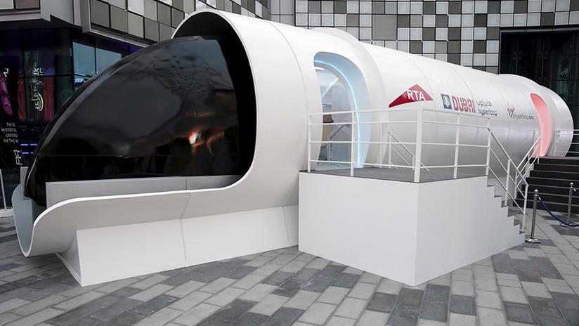 Transporte futurista: Presentan en EAU un prototipo del tren Hyperloop de Elon Musk
