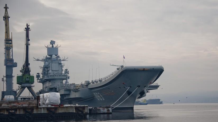 Revelan detalles del proyecto del nuevo portaviones ruso