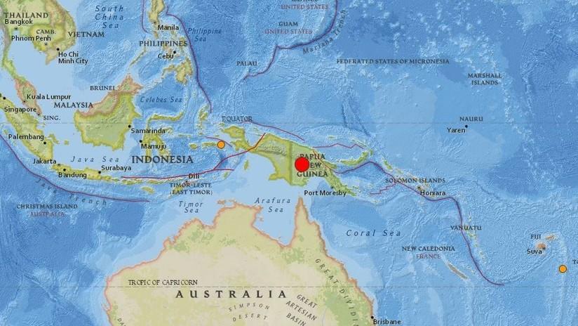 Un terremoto de magnitud 7,5 sacude Papúa Nueva Guinea