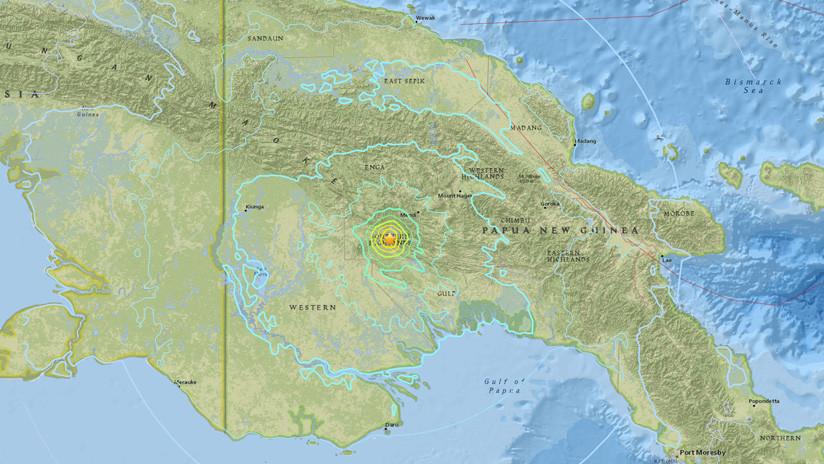 Otro gran terremoto se registra en Papúa Nueva Guinea