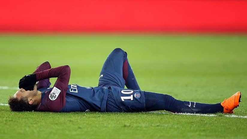 Grave lesión dejaría a Neymar fuera del partido PSG - Real Madrid (VIDEO)