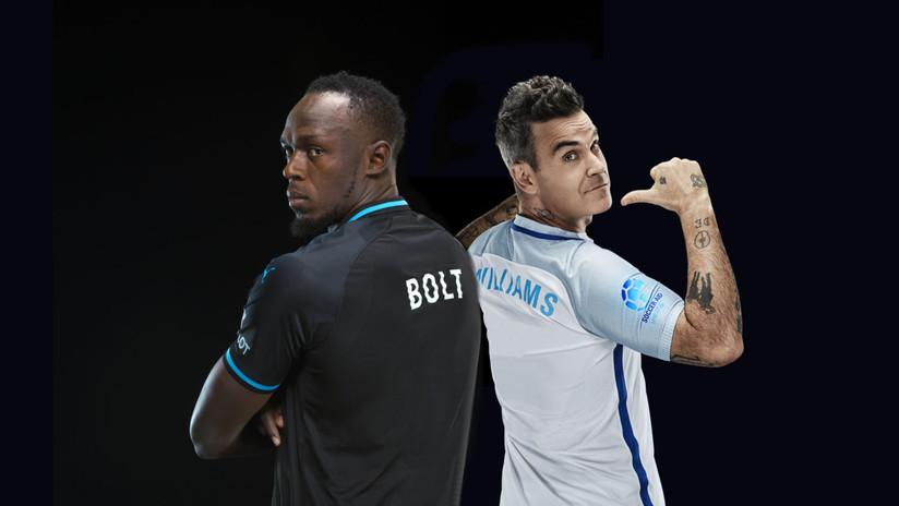 VIDEO: Usain Bolt se enfrentará a Robbie Williams en un partido de fútbol repleto de estrellas