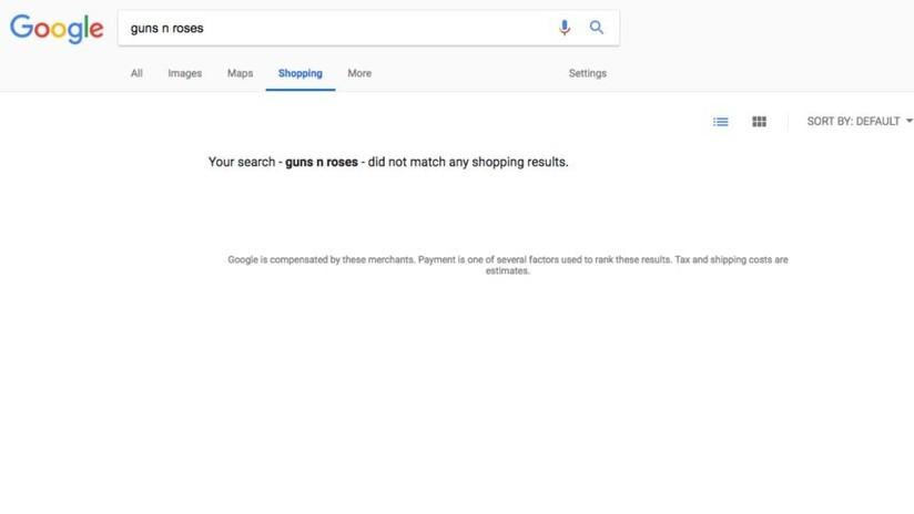 ¿Control de armas?: Desaparecen de Google Shopping los productos de Sex Pistols y Guns N' Roses