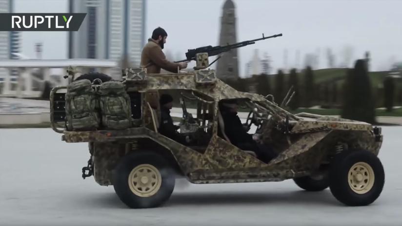 VIDEO: Estrenan en Chechenia los nuevos todoterrenos de las fuerzas especiales rusas