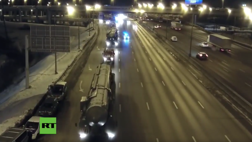 VIDEO: El Ejército ruso traslada varios misiles balísticos intercontinentales Yars a Moscú