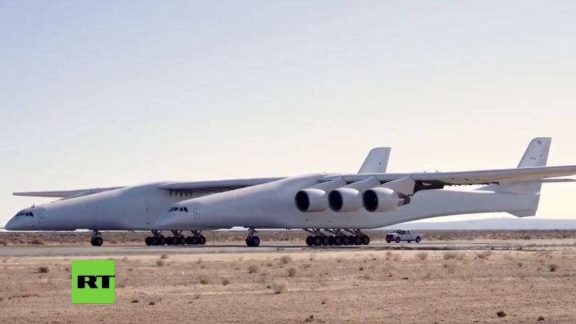 VIDEO: El avión más grande del mundo acelera hasta una velocidad récord durante sus pruebas