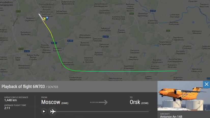 Un avión con 71 personas se estrelló en las afueras de Moscú