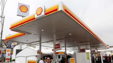 Vista panorámica de la primera estación de servicio de la empresa Shell. Ciudad de México. Septiembre de 2017.